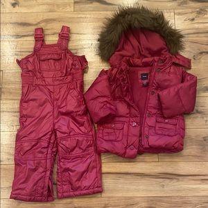 BabyGap 18-24m Dark Pink Winter Coat and Snowpants